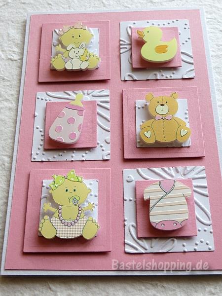 babykarten basteln babykarte f r einen junge und ein m dchen. Black Bedroom Furniture Sets. Home Design Ideas