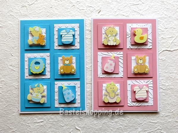 Babykarten.Babykarten Basteln Babykarte Fur Einen Junge Und Ein Madchen