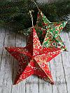 Christmas Craft Project - Paper Maché Stars Decoupaged with Décopatch Paper