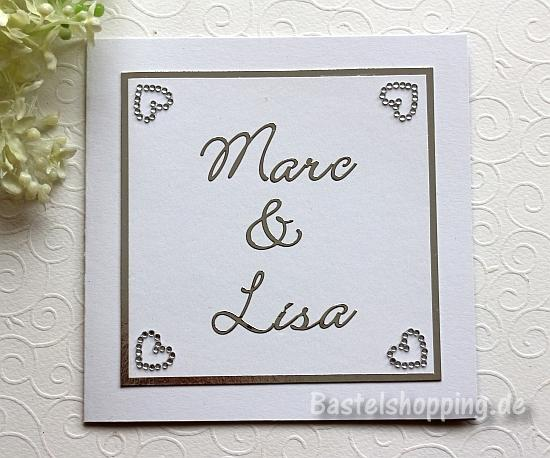 Eine Hochzeitskarte Basteln